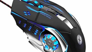 Xmate Zorro Wired USB Gaming Mouse, 3200 DPI Optical Sensor, RGB Lighting, 6 Mechanical Buttons, Lightweight & Durable Mouse for PC/Laptop/Mac - (Black)