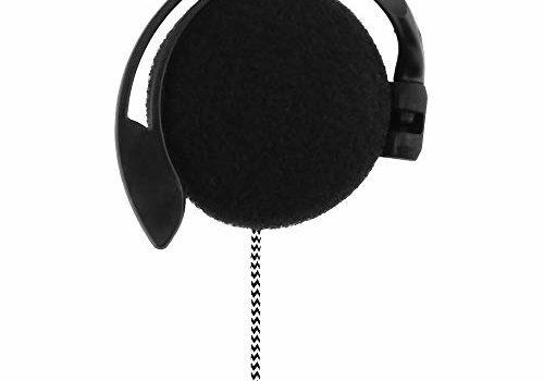 KKmoon 3.5mm Wired Gaming Headset On-Ear Sports Headphones Ear-Hook Music Earphones for Smartphones Tablet Laptop Desktop PC