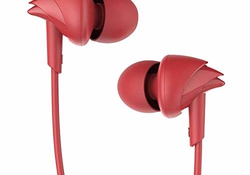 boAt BassHeads 100 in-Ear Wired Earphones with Super Extra Bass, in-line Mic, Hawk Inspired Design and Perfect Length Cable (Furious Red)