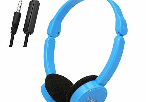Docooler 3.5mm Wired Over-Ear Headphones Foldable Sports Headset Portable Music Gaming Earphones w/Microphone for Kids MP4 MP3 Smartphones Laptop Tablet PC