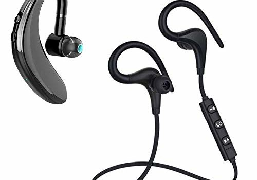 GO SHOPS Best Wireless Neckband Headset with Fast Charging & Mic, IPX5 Sweatproof with Deep Bass Headphones. with S-109 Wireless Bluetooth with Mic -HD Sound Quality, Noise Cancellation.