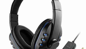 Festnight 3.5mm Wired Gaming Headphones Over Ear Game Headset Noise Canceling Earphone with Microphone Volume Control for PC Laptop PS4 Smart Phone