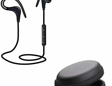 Protaq Pubg Mobile Gaming Bluetooth Headset Wireless with Mic, HD Sound, Powerful Bass, Long Battery Life Headphone with Free Round Zipper Pouch SD Memory, Keys, Coins, Pen Drives or Earphones