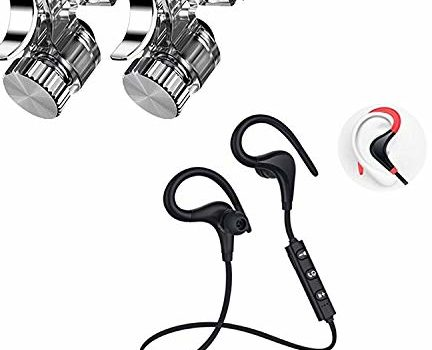 LIMESHOT ® Bluetooth Earphone Wireless Headphones with R11 PUBG Mobile Remote Controller Joystick Gamepad Triggers L1 R1 Shoot Aim Button for Sports Stereo Jogger, Running, Gyming