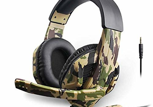 Generies for Internet Bar Video Game Gaming Headset Camouflage PS4 PC Wired Stereo Headset with Mic for Computer Tablets Smartphone