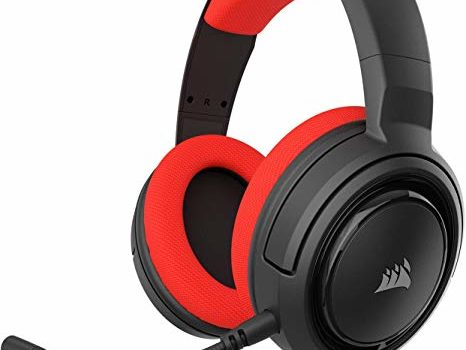 Corsair HS35 Stereo Gaming Headset - Headphones Designed for PC and Mobile – Red