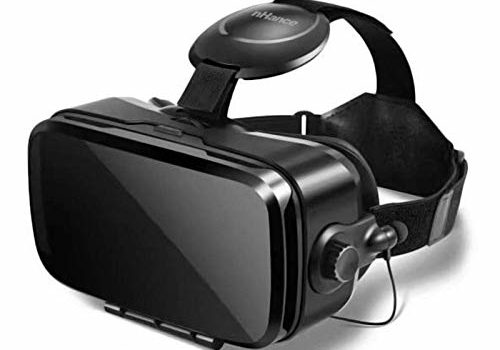 """DOMO nHance VR11 Universal Virtual Reality 3D Headset with Inbuilt Stereo Sound Headphone, Capacitive Touch Button, Volume Button, Call Answer Key for Smart Phones Upto 6.2"""" Screen - Black"""