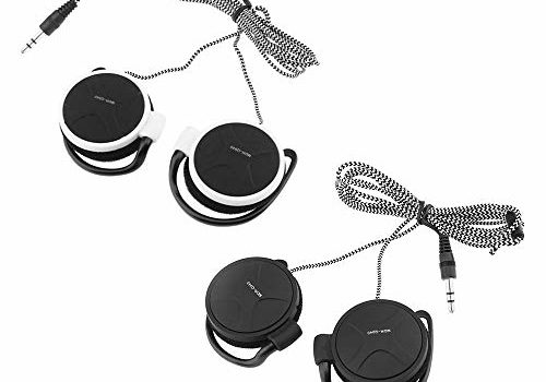 Anself Ear-Hook Headphones 3.5mm Wired Gaming Headset On-Ear Sports Headphones Music Earphones for Smartphones Tablet Laptop Desktop PC