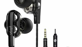 pTron Boom Ultima 4D Dual Driver in-Ear Wired Headphones with Mic - (Black and Silver)
