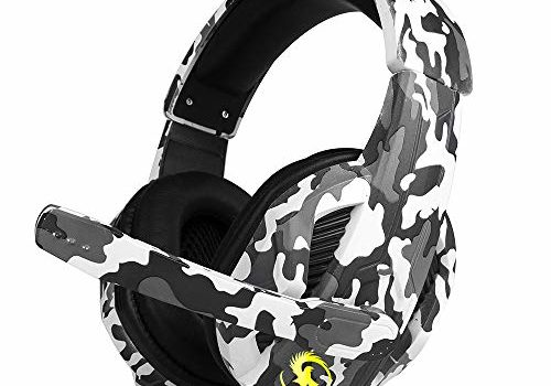 T-173 3.5mm Over-Ear Wired Gaming Headphones Music Headset Noise Cancellation Earphones w/Microphone Mic Mute Volune Control for PS4 Smartphones Laptop Tablet PC