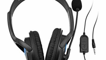 Anself 3.5mm Wired Gaming Headphones Over Ear Game Headset Stereo Bass Earphone with Microphone Volume Control for PC Laptop PS4 Smart Phone