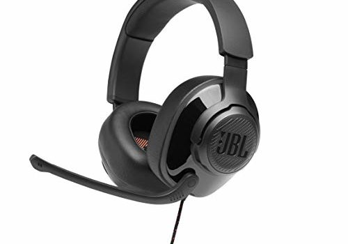 (Renewed) JBL Quantum 200 Wired Over-Ear Gaming Headset with Flip-up Mic & Discord Certified (Black)