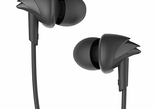 boAt BassHeads 100 in-Ear Wired Earphones with Super Extra Bass, in-line Mic, Hawk Inspired Design and Perfect Length Cable (Black)
