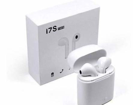 MOFNOS TWS i7 True Wireless Earphone with Portable Charging Case for Android/iOS Devices with Sensor. (White)