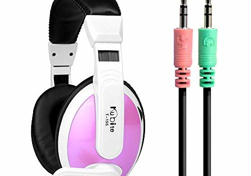 T155 Gaming Headset 3.5mm Over-Ear Headphone with Adjustable Microphone Volume Control for Desktop PC