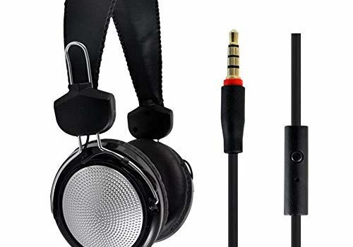 Honelife T-420 Gaming Headset 3.5mm Stereo Over-Ear Headphone with Adjustable Microphone for PC Laptop Smart Phone