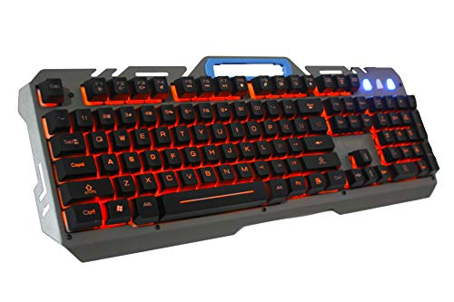 Offbeat® Offbeat® Slayer Wired Gaming Mechanical Like Keyboard 9 Non-Conflicting Keys, Water-Resistant, RED Led Backlight Keys with Zero Lag (RED Laser LED)