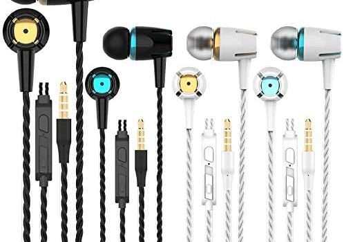 A9 Headphones Earphones Earbuds Earphones, Noise Islating, High Definition, Stereo for Samsung, iPhone,iPad, iPod and Mp3 Players (Mixed Color 4 Pairs)
