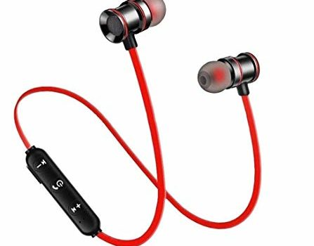 INUOAP TR722 Magnetic Wireless Bluetooth Headset Hands-Free Bluetooth Earphone Headphone for Calling with Built-in Mic for All Smartphone