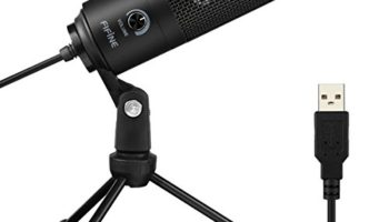 Fifine K669B Condenser Recording USB Microphone with Tripod Stand (Black)
