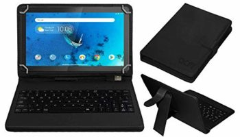 Acm USB Keyboard Case Compatible with Lenovo Tab M10 Hd 10.1 Inch Tb-X505X Tablet Cover Stand Study Gaming Direct Plug & Play - Black