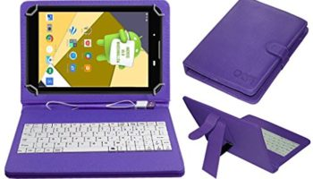 Acm USB Keyboard Case Compatible with Unic U2 Tablet Cover StandStudy Gaming Direct Plug & Play - Purple