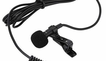 Eftsoon 5 Feet Microphone Collar Mic, Professional Lapel Clip-on Omnidirectional Condenser lavalier Mic for Smartphones,PC,Recording YouTube,Interview,Video Conference,Podcast (Black)