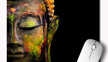 MM9E Non-Slip Monk, Buddha, Printed Mouse Pad for Gaming Computer, Laptop, PC Mouse Pad (Multicolor)