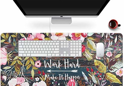 Handcuffs Extended Gaming Mouse Pad Large Size Big Extended Laptop Protector Computer Accessories Mousepad (Floral Wreath)