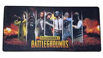 NSinc Large XXL Random Gaming Mouse Pad with Nonslip Base, Thick, Comfy, Waterproof & Foldable Mat for Desktop, Laptop, Keyboard, Consoles & More, Random Colour and Design