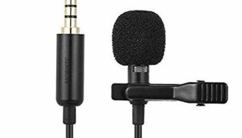 Eftsoon Professional Grade Lavalier Lapel Microphone Omnidirectional Mic with with 5 Meter Cord Length Easy Clip-on System for Recording YouTube/Interview/Video Conference/Podcast/Voice Dictation
