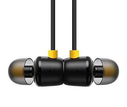 REDWIND® Nylon Wire Design 3.5mm Jack Magnetic Buds Earphone for OPP0, HiFi Sound Deep Bass with Mic, Noise Cancellation Earphone for OPP0, Realme, All Android and iOS Smartphone