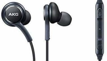 IQUTARK AKG 3.5mm Earphones Super Bass AKG Hands-Free with Fabric Cable Compatible for All Samsung Mobile's & Other Android/iOS Devices - (Black)