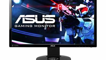 Asus 24-inch (60.96 cm) LED Backlit Computer Gaming Monitor with 3D Vision Ready Eye Care, Built-in 2W Stereo Speakers - VG248QE (Black)