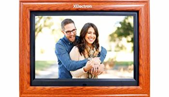 XElectron® 12 inch IPS Wooden Digital Photo Frame/Video Frame with 1920×1080 Resolution, Plays Images, Video & Music, USB/SD Card Slot, with Remote (Wooden)