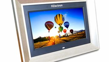 XElectron 10 inch IPS LED Digital Photo Frame/Video Frame with 1080P Support Resolution Plays Images, Video & Music, USB/SD Card Slot, with Remote (Metallic)