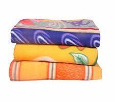 Shankara Printed Fleece Double Bed Blanket Pack of 3 (Multi-Color)