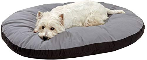 Hiputee Reversible Dual Color Ultra Soft Velvet Bed for Small/Large Dog & Cat (XL, Grey Black)