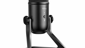 FIFINE K678 USB Podcast Microphone for Recording Streaming on PC and Mac, Condenser Computer Gaming Mic for PS4 with Headphone Output & Volume Control, Mic Gain Control, Mute Button for Vocal, YouTube