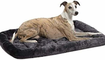 Fluffy's Luxurious Dog Bed | Bolster Dog Bed Fits Metal Dog Crates | Machine Wash & Dry, Black, Extra Large, 1450 g