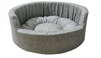 Gorgeous Quilted Reversible Round Ultra Soft Dual Style Dog Bed Grey-Medium
