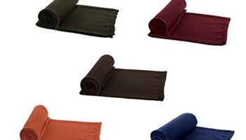 AAZEEM Solid 5 Piece Polyester Single Blanket - Multicolour