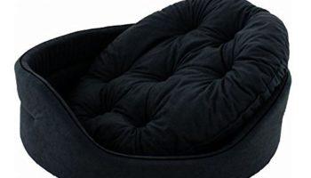 slatters be royal store Round Shape Reversable Dual Black Color Ultra Soft Ethnic Designer Velvet Bed for Dog/Cat (Export Quality) Small