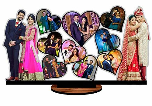 Unique Stuff Personalized Gift MDF Cutout Photo Frame Standee Customized with Your Photos (24 x 12 inch)
