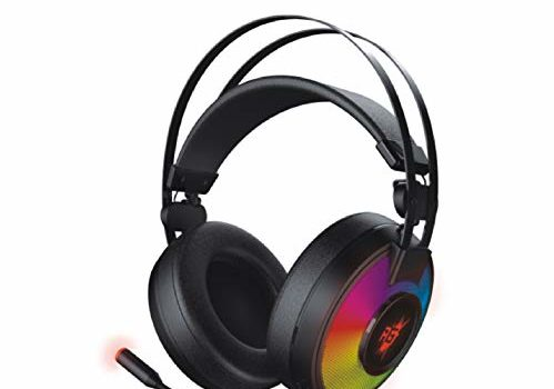 (Renewed) Redgear Comet 7.1 USB Gaming Headphones with RGB LED Effect, Mic and in-line Controller for PC