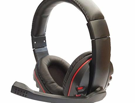 SUPER TOY Sonlex Wired Stereo Gaming Headset-Over Ear Headphones with Noise Canceling Mic, Detachable Headset Compatible with PS4, Xbox One, Nintendo Switch, PC, Mac, Laptop