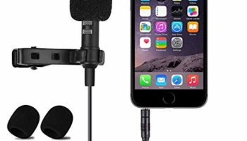 Jouxy KW863 Digital Microphone with Noise Cancellation Clip Collar Mic Used for You-Tube Video's   Interviews   Seminar   Lectures   Speach   Travel Video's Mic Compatible with All Mobile (Black)