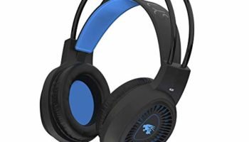 Probus K20 Gaming Headset for PS4, PS5, Xbox One, Nintendo Switch, PC, Mobile Phones, Laptop, 3.5mm Wired Headphone with Volume Control, Noise Cancelling Mic, LED Light (Blue/Black)