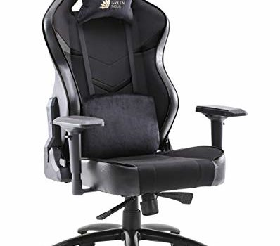 Green Soul Monster Ultimate (S) Multi-Functional Ergonomic Gaming Chair (GS-734US) (Full Black) (Large Size)