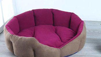 Slatters be Royal Store Round Shape Reversable Gray Pink Ultra Soft Ethnic Velvet Dog Bed for Pet/Cat